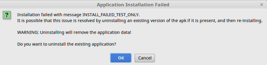 the apk failed to install