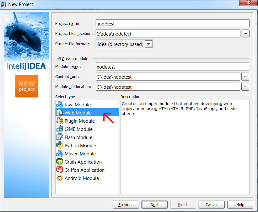 IntelliJ Idea – How to create Node js project with Express support