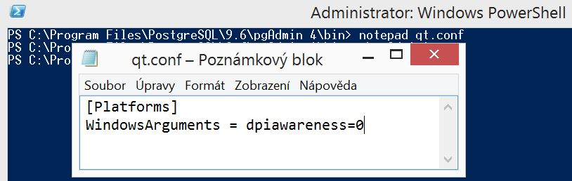 How to increase font size in pgAdmin 4 on Windows